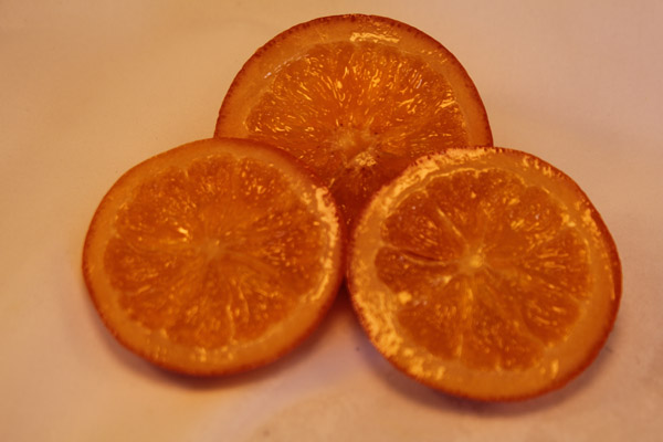 glacé orange slices